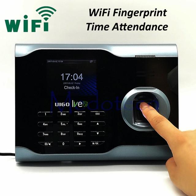 u160 wifi fingerprint time attendance employee biometric electronic