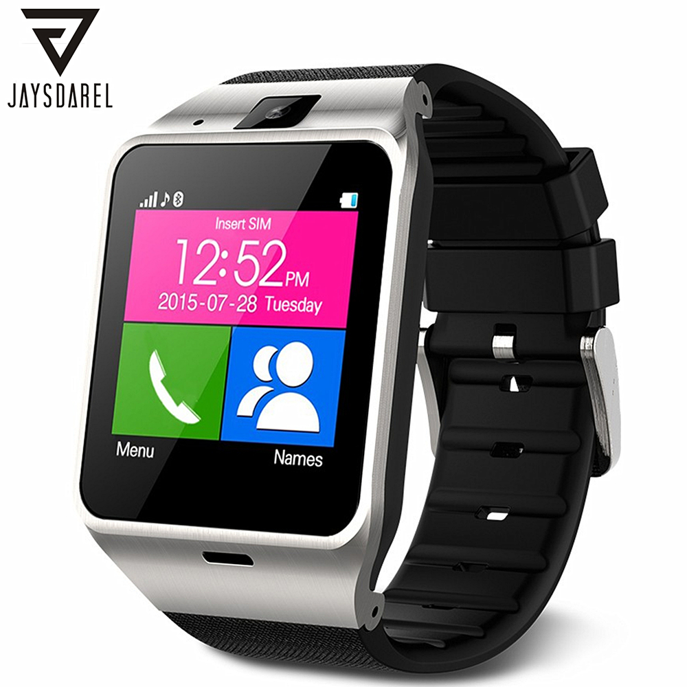 JAYSDAREL GV18 Aplus Smart Watch For iOS Android Bluetooth NFC Support TF SIM Card Waterproof Wrist Clock PK DZ09 GT08 U8 jaysdarel m26 bluetooth smart watch for android ios sync phone call pedometer anti lost wrist smartwatch pk gt08 dz09 gv18 u8