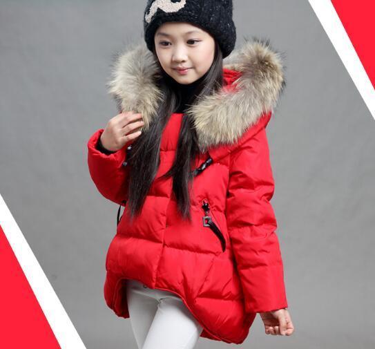 2016 hot Girls Winter Down Jacket Children Warm Outerwear Kids Hooded Down Jacket Coat Boys Fashion Winter Clothing
