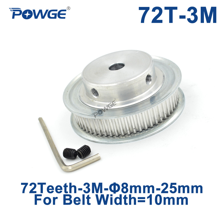 Powge Arc Tooth 72 Teeth 3m Synchronous Pulley Bore 8 10 12 14 15 19 Gt2 Timing 40 10mm Belt 6mm 20 25mm For Width Htd3m Gear 72teeth 72t In Pulleys From Home