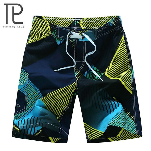 2018 Men's Beachwear Summer Board Shorts Quick Drying Swim Trunks with Elastic Waist for Running Training Workout Watersports 3