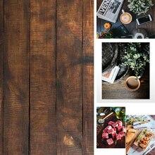 תוספות סגנון 3D הדפסת 58x86cm תמונה רקע כפול צדדים עץ שיש מלט קיר צילום רקע עבור מזון מצלמה תמונה