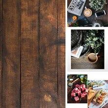INS Style 3D impression 58x86cm Photo toile de fond Double côtés bois marbre ciment mur photographie fond pour nourriture caméra Photo