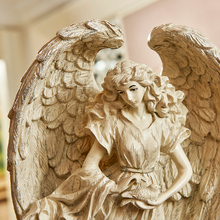 Ozdobne anioły europejskie kreatywne osoby aby wysłać każdą parę prezent ślubny dekoracje z żywicy 24CM X 13 5CM X 51CM tanie tanio NoEnName_Null Żywica Antique sztuczna Ludzi