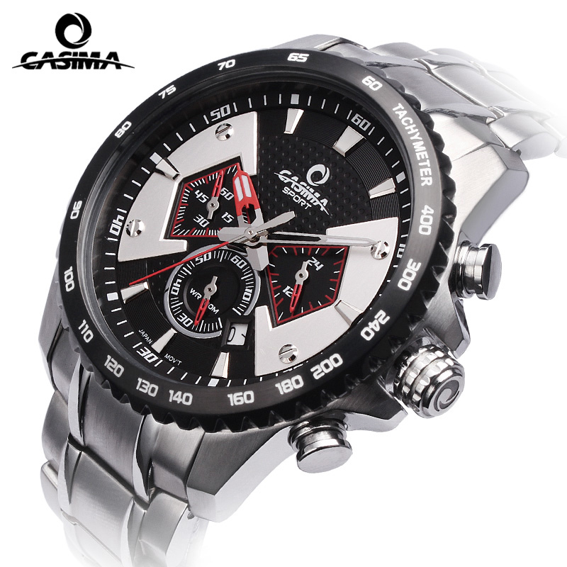 New luxury brand watches men  leisure multi-function mens quartz wrist watch relojes hombre waterproof 100m CASIMA#8103 sinobi original vogue new design wrist watches for men dress office waterproof men watch travel factory directly sale relojes