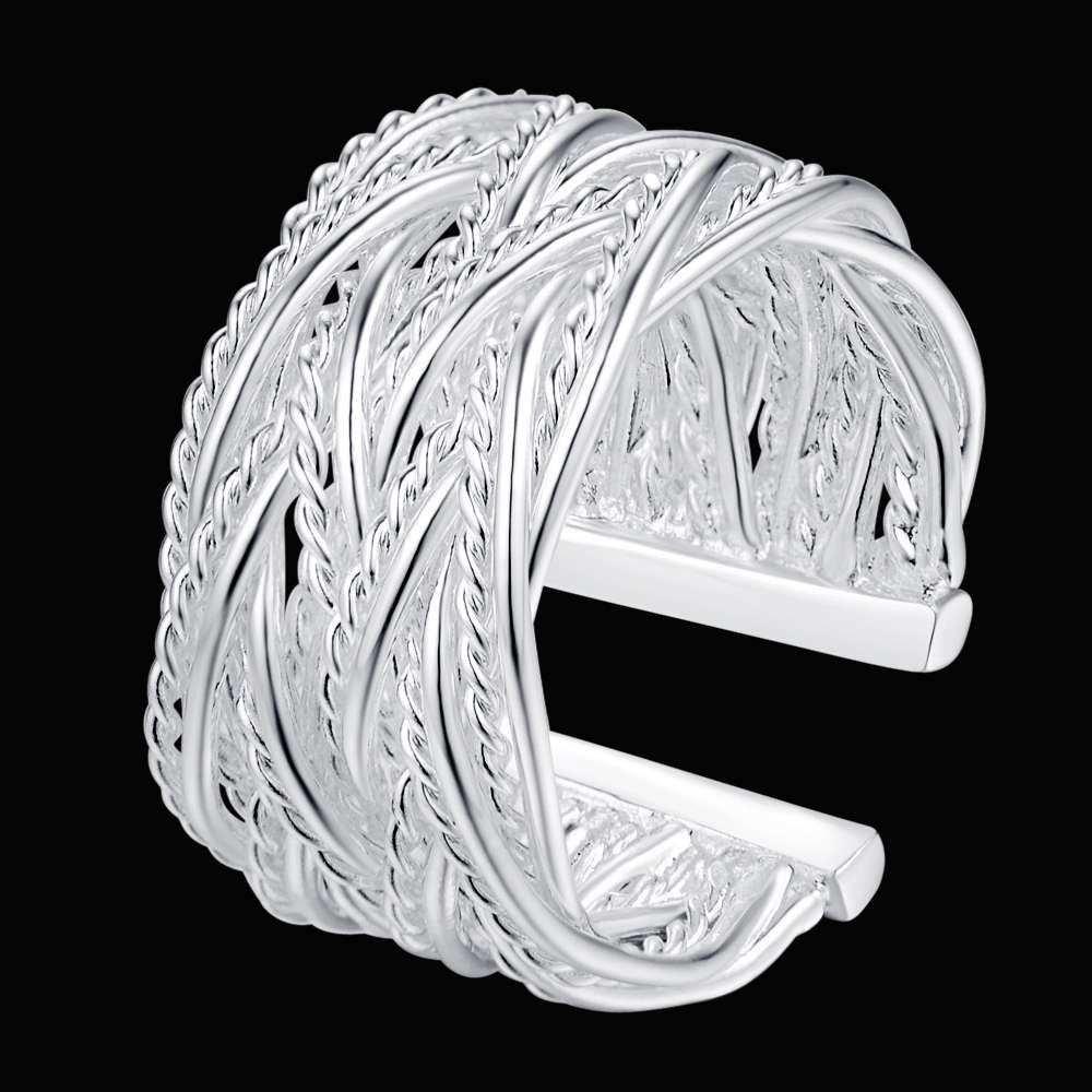 r023 new creative Specials silver plated high quality rings fashion cute women classic jewelry sweet style