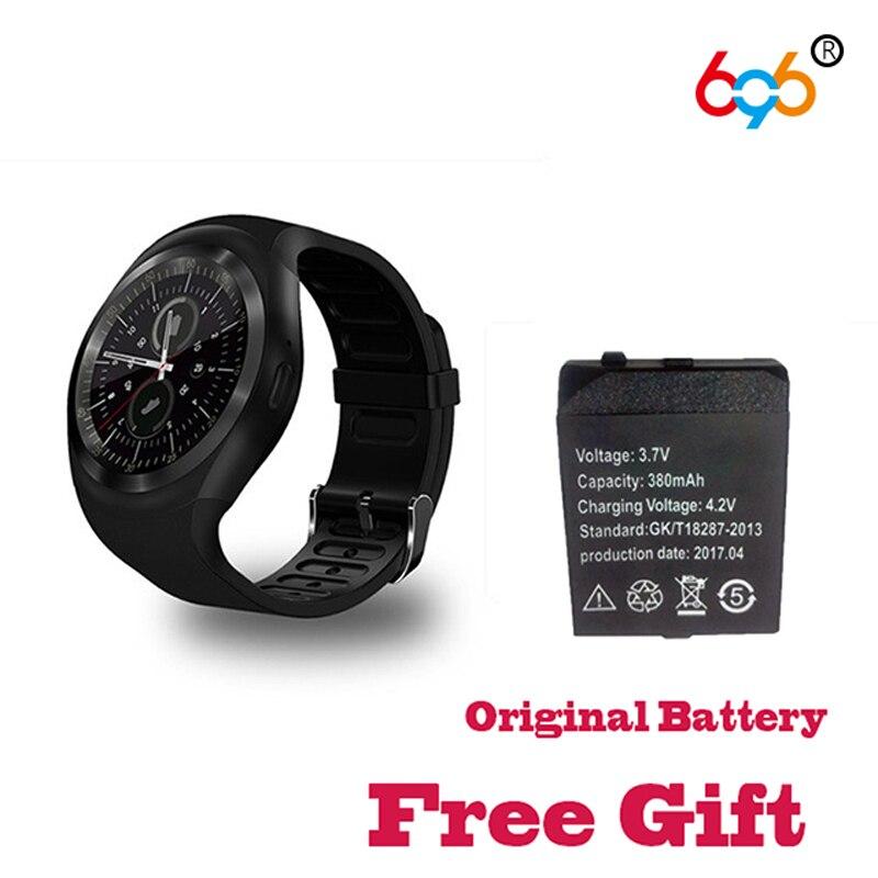 696 SmartWatch Y1 Runde Unterstützung Micro 2g SIM & TF Karte Mit Whatsapp Facebook App Für IOS & Android telefon Y1 bluetooth Remo-Kamera