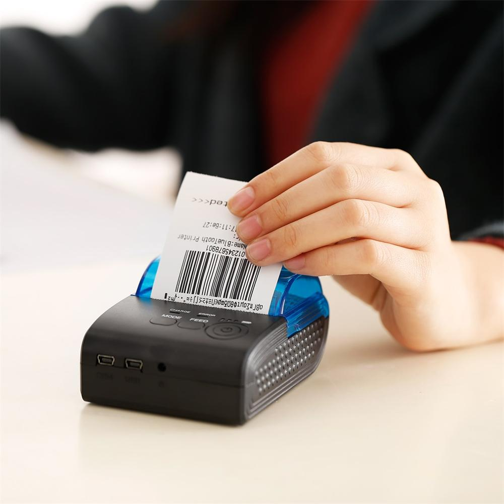 Lightweight 58mm Mini Portable 4.0 Wireless Receipt Thermal Printer for IOS for Android for Windows USB POS Printer