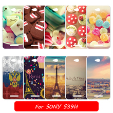 DIY Colorful Back Cover for Sony Xperia S39H S 39H Painting Protective Case for Sony C 2304 2305 Cell Phone Case Cape Fundas Bag