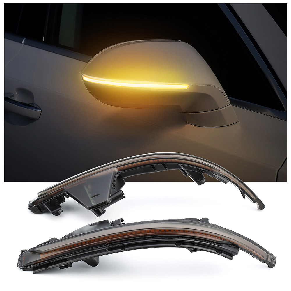 Car Styling LED Signal Lamps Sequential Blink LED Turn Signal Lights Smoked Side Mirror Lamp turn signal light For AUDI A7 S7 RS