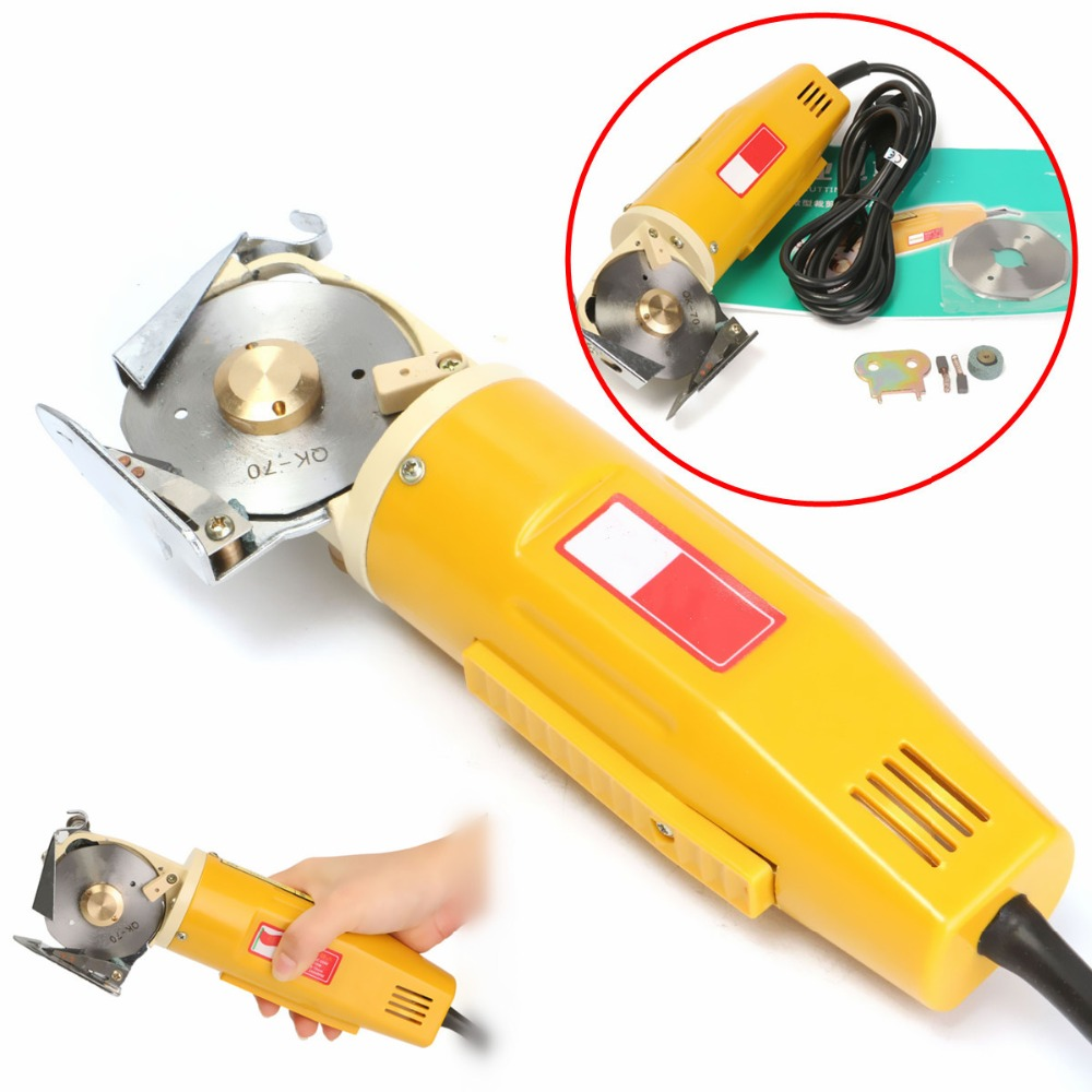 220V 170W Electric Cloth Knife Fabric Cutting Tools Leather Cloth Electric Cutter Machine Kit Blade Power