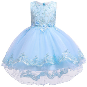 Image 3 - 2019 Kids Tutu Birthday Princess Party Dress for Girls Infant Lace Children Bridesmaid Elegant Dress for Girl baby Girls Clothes