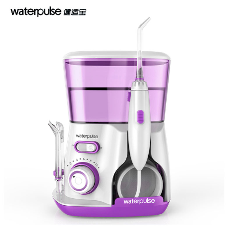 waterpulse Nozzles dental Water jet Flosser Oral Irrigator waterpick with 5Pcs jet tip & 800ML Water Tank dental hygiene