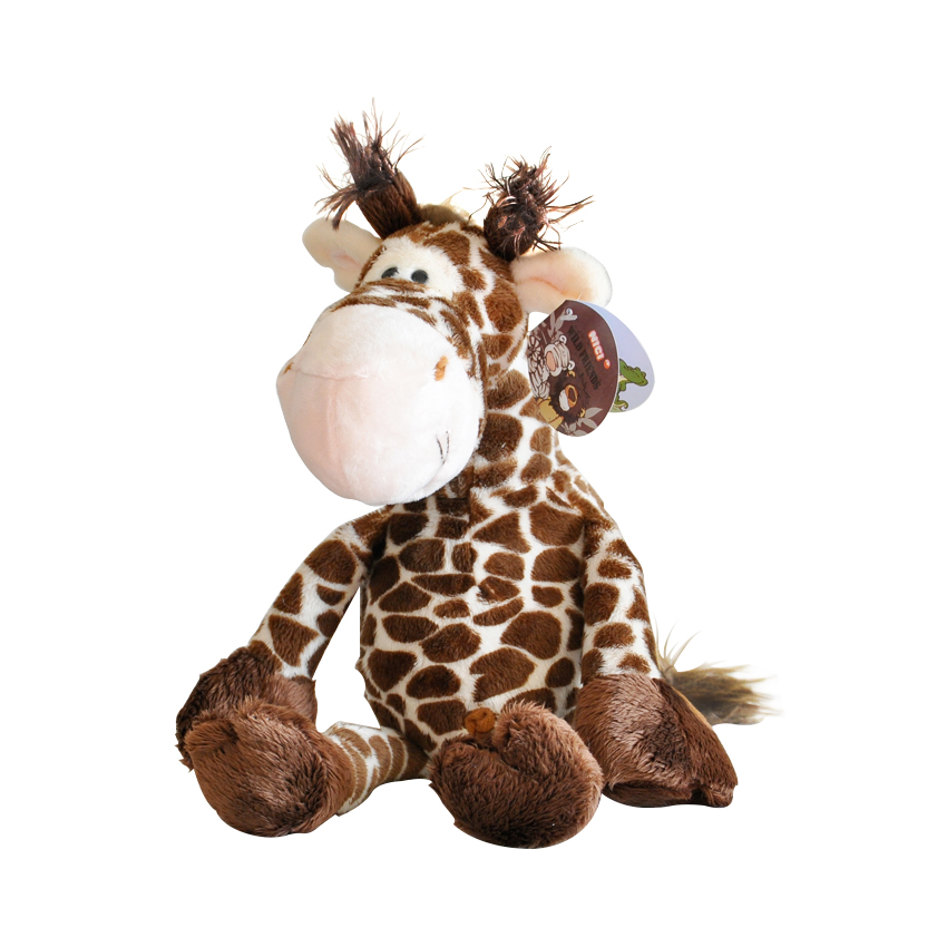 23cm 1piece big NICI lovely giraffe toys plush doll ,  stuffed animal deer doll, Best Birthday Gift For Boys And Girls детские кроватки forest lovely giraffe качалка