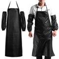 Популярные мужские и женские удобные фартуки из искусственной кожи для шеф-повара  водонепроницаемые Кухонные фартуки для кафе  коммерческ...