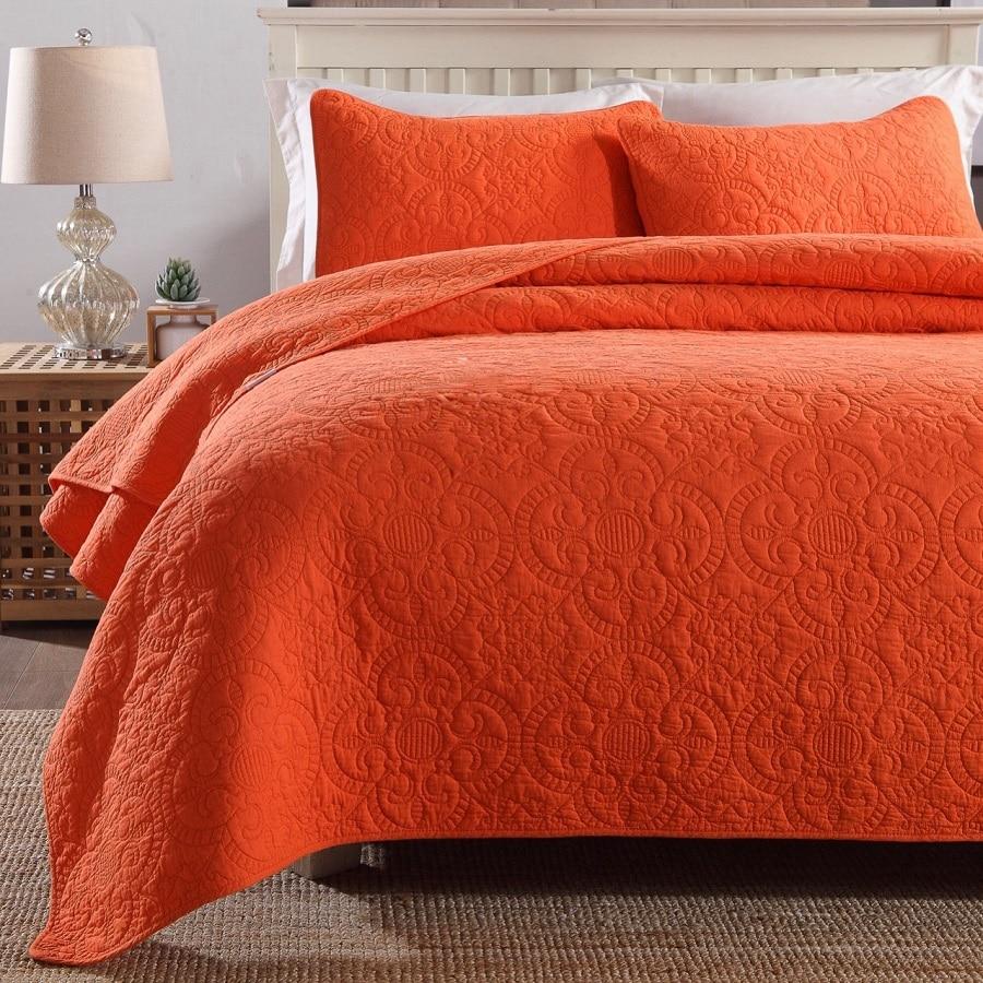 Chausub качество вышитые Стёганое одеяло комплект 3 шт. хлопок Одеяла Стёганое одеяло ED Постельные покрывала покрывало король Размеры покрывал
