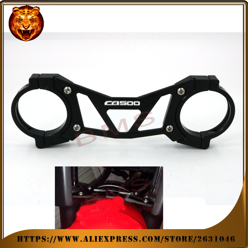 Motorcycle Accessories Aluminum BALANCE Foreshock FRONT FORK BRACE For HONDA CB500X CB500F CB500 2013-2016 free shipping new for honda cbr250r 2011 2013 cbr300r 2014 2015 cb300f 2015 2016 balance shock front fork brace motorcycle accessories