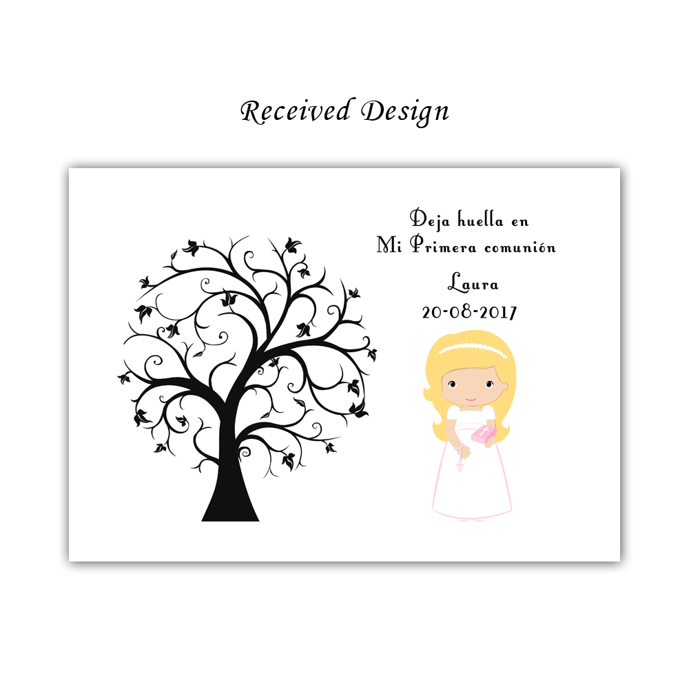 Free Custom Mi Primera Comunion Fingerprint Signature Sign Book,My First Holy Communion Guestbook,Kids Baptism Gift With Ink Pad