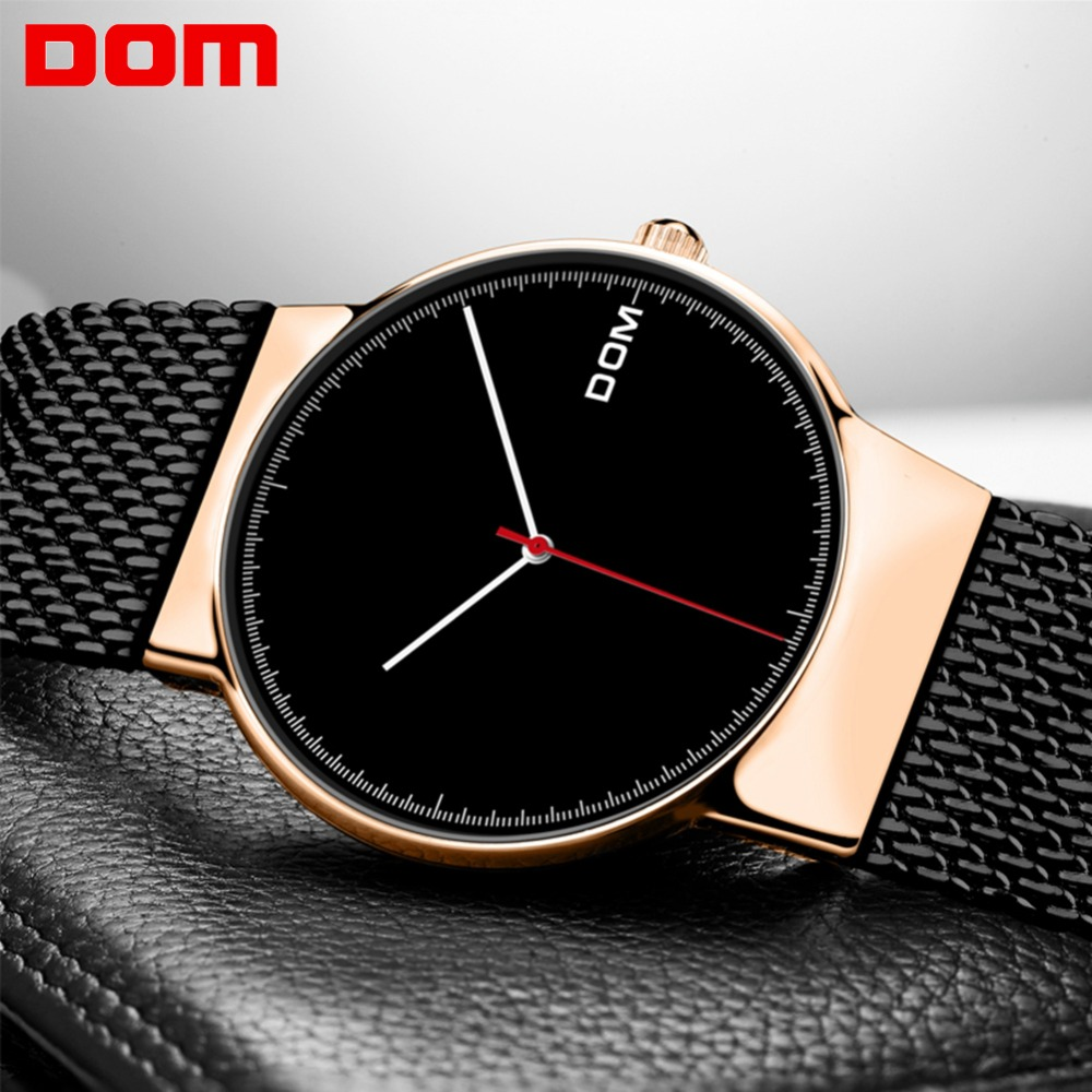 Watches Men DOM Brand Top Luxury Men Watches Ultra Thin Stainless Steel Mesh Band Quartz Wristwatch Fashion casual M-32GK-1MSWatches Men DOM Brand Top Luxury Men Watches Ultra Thin Stainless Steel Mesh Band Quartz Wristwatch Fashion casual M-32GK-1MS