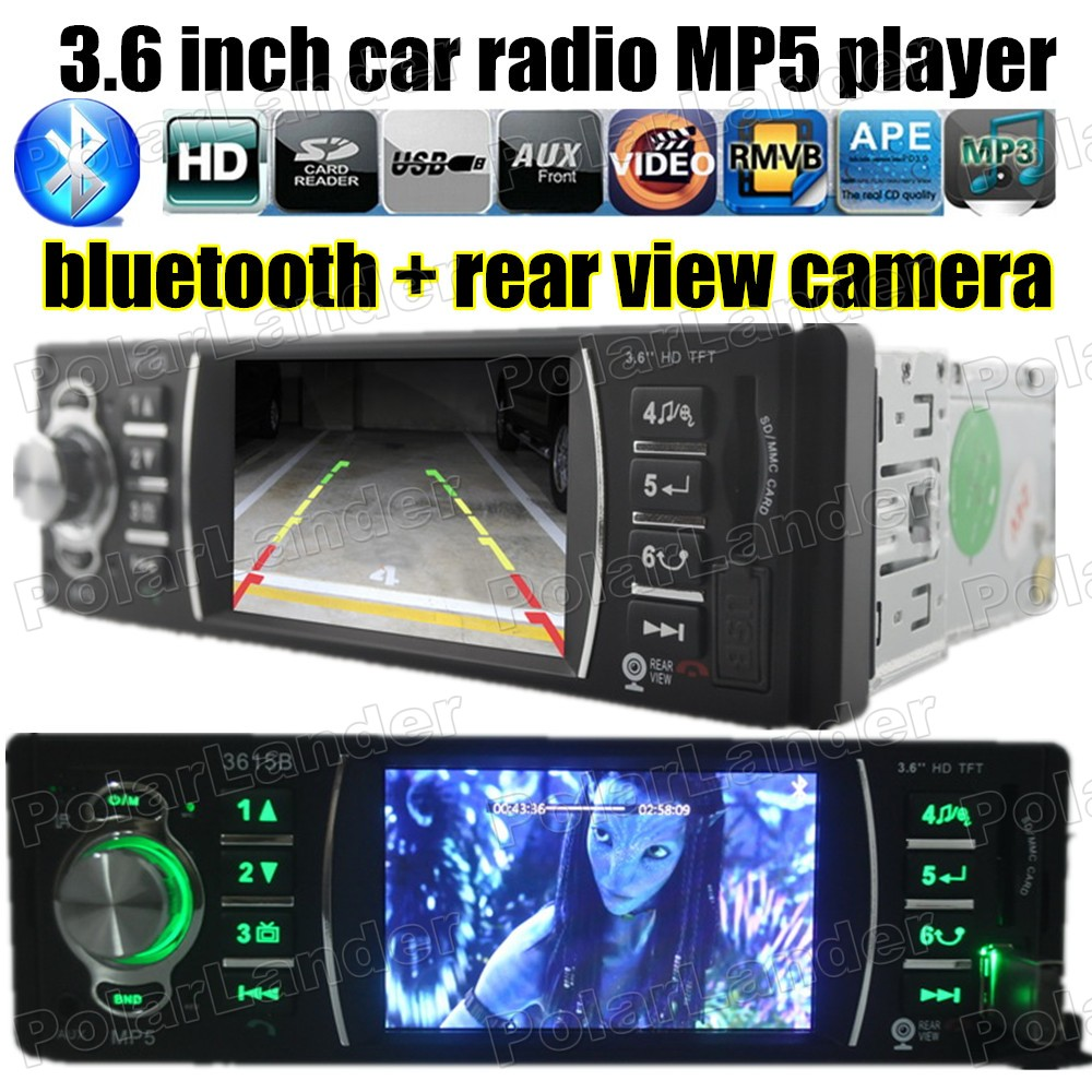 3 6 TFT Car MP5 radio Player USB SD MMC AUX FM 1 DIN size Stereo