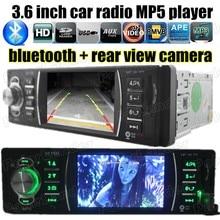 "3.6 ""TFT Del Coche MP5 Player radio USB/SD/MMC/AUX/FM 1 DIN Stereo tamaño manos libres bluetooth apoyo reproductor de vídeo de cámara de reversa"