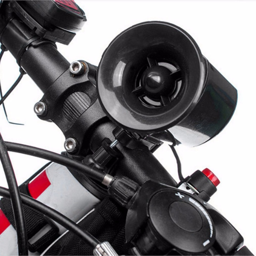 Super Loud Horn Sound Electronic Bicycle Ring Bell Alarm Speaker Mountain Bike Ring Bells Cycling Handlebar Bicycle Equipment