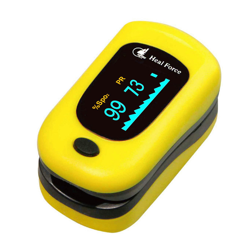 Heal Force Nail Pulse Heartbeat Monitor Color LCD Blood Oxygen Saturation Detector Blood Oxygen Meter PI finger pulse oximeter стоимость