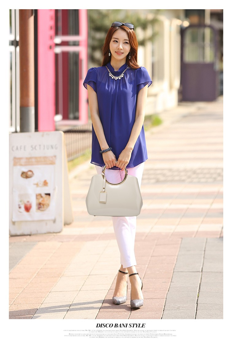 Promotion of new women's bags,Patent Leather Women Bag Ladies Cross Body Shoulder Bags Handbags Blue one size 47