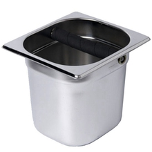 Stainless Steel Espresso Coffee Knock Box With Rubber Container Coffee Grounds Container Coffee Bucket For Barista