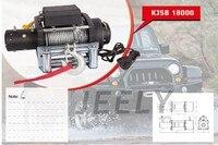 Бесплатная доставка 12 В 18000LB электрические лебедки, 4WD/4x4 лебедка, грузовик лебедки