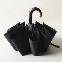 Large Wooden Handle Anti UV Umbrella Rain Women Floding Automatic Sun Men Windproof Luxury Kids Umbrellas UBY053