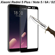 9H Tempered Protective Glass Xiaomi Redmi 5 Plus Note 5 pro Redmi 6 6A Xiaomi Mi A2 Mi 6X Redmi S2 Screen Protector Glass Film(China)