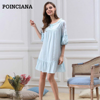 721bea9c9b664 Women Nightgown Cotton Robe Femme Ete 2017 Sleep Shirt Sleepwear Hot Night  Dress For Women Beautiful