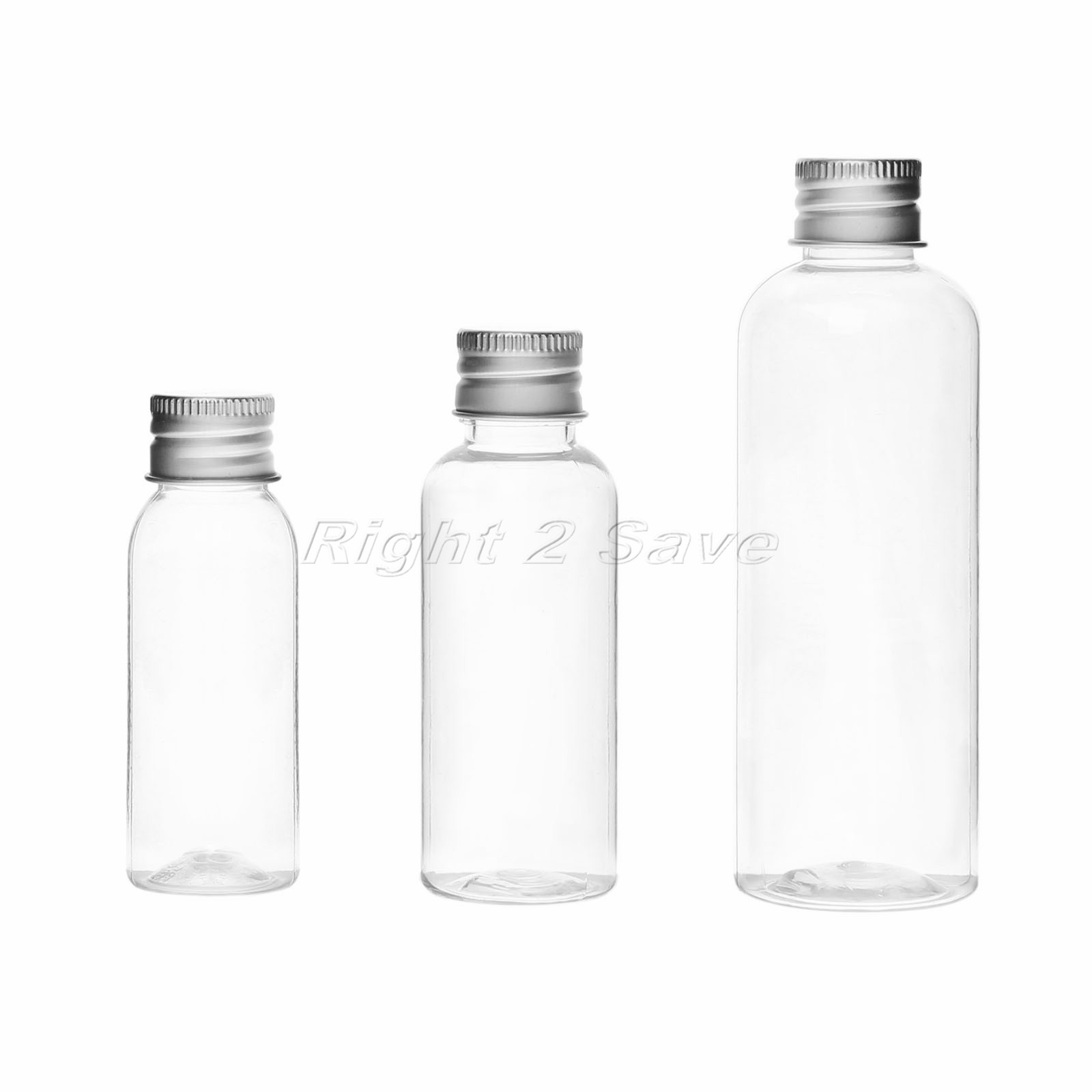 5PCS 30ML/50ML/100ML Plastic Bottle With Aluminum Screw Cap Plug Cosmetic Container Travel Kits Portable PET Lotion Cream
