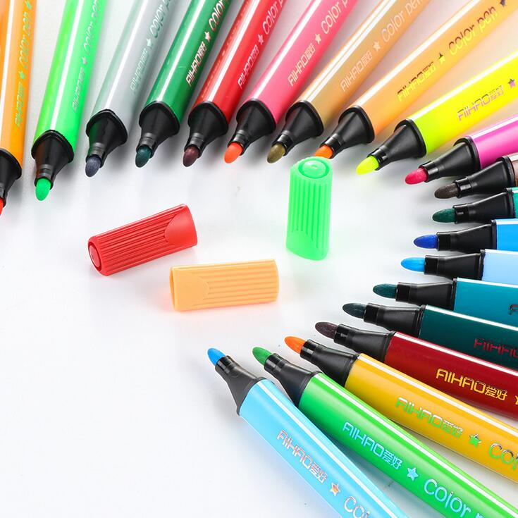 12pcs/set Watercolor Color Paint Pen Highlighters Promotional Markers Gift Stationery