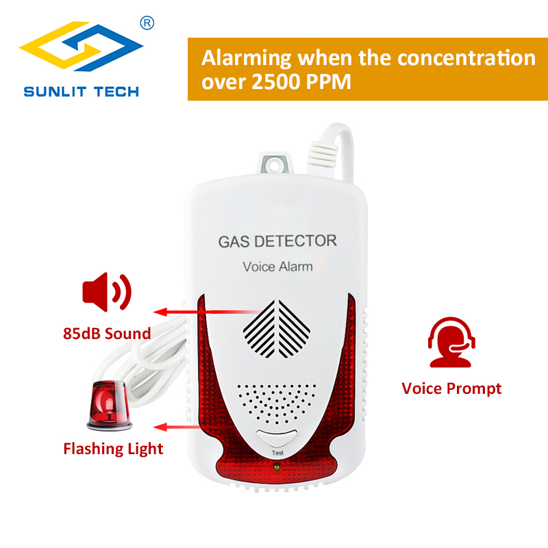 Portable Combustible Natural Gas Leak Detector Sensitive LPG Gas Detector Sensor Household Gas Leak Tester Alarm System for home 12v combustible gas leak lpg natural gas detector propane alarm for rv van boat home alarm system security