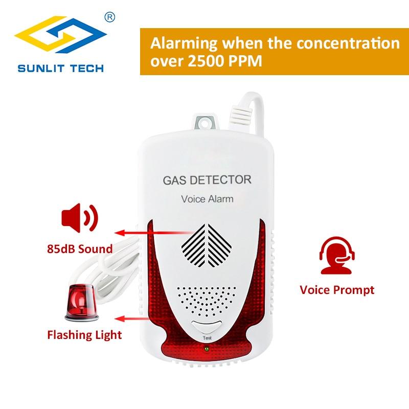 Portable Combustible Natural Gas Leak Detector Sensitive LPG Gas Detector Sensor Household Gas Leak Tester Alarm System For Home
