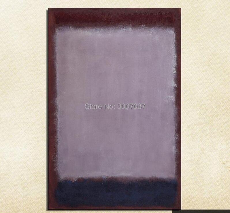 Mark Rothko nature morte classique violet peinture à l'huile dessin art 100% à la main sans cadre toile photo hologramme navire par dhl