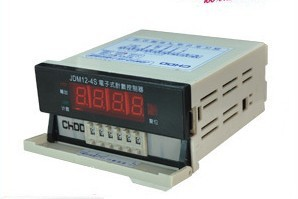 electronic meter counter JDM12-4S length measuring instrument can be equipped with sensors designed presets