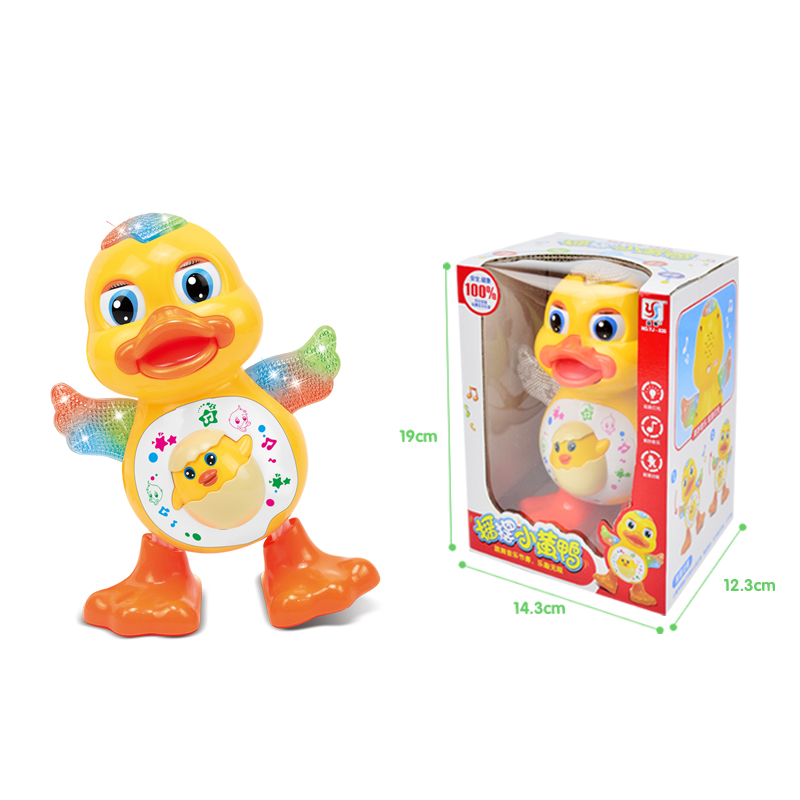 Купить с кэшбэком Baby Toys Interactive Electronic Dancing Duck & Frog Toy Kids Early Learning Educational Toys with Music & Lights