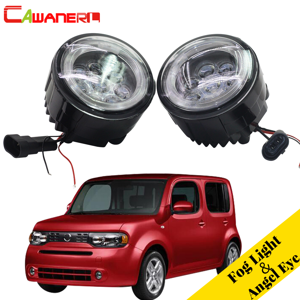 Cawanerl Car Accessories LED Fog Light Angle Eye Daytime Running Light DRL Styling For Nissan Cube Z12 Hatchback 2010-2014 цена 2017
