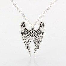 10pcs Tibetan Silver Fashion Women Feather wings Pendant Necklace Chain Jewelry  XL11D60