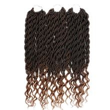 Pageup Synthetic Goddess Faux Locs Crochet Hair Afro Curly Crochet Braids Ombre Braiding Hair Extension For Braids 12inch goddess faux locs curly ends short wavy crochet braids 12strand pack afro synthetic ombre crochet braiding hair extension