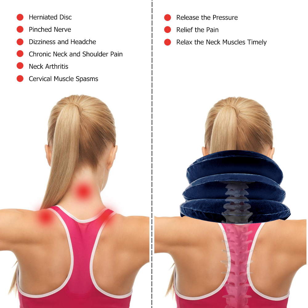 HTB1A2bilbZnBKNjSZFGq6zt3FXaV - Inflatable Air Cervical Neck Traction Neck Massage