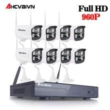 8CH Wireless NVR CCTV System 960P IP Camera WIFI Waterproof IR Night Vison Home Security Camera Surveillance Kit NO HDD