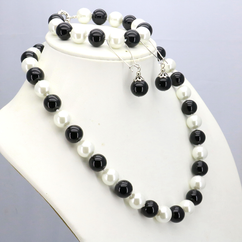 """Beautiful 5x8 mm faceted crystal necklace 18 /""""bracelet 7.5/"""" Earrings Set"""
