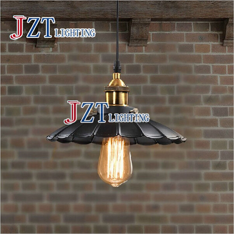 Z 1pc Edison Vintage Style Industrial Light Loft Retro Chandelier Lamp Cafe-bar Restaurant LED Black Lotus Umbrella Pendant Lamp rh loft edison industrial vintage style 1 light tea glass pendant ceiling lamp hotel hallway store club cafe beside
