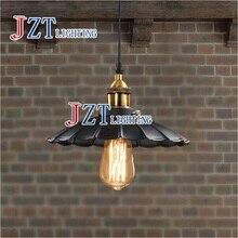 Z 1pc Edison Vintage Style Industrial Light Loft Retro Chandelier Lamp Cafe-bar Restaurant LED Black Lotus Umbrella Pendant Lamp