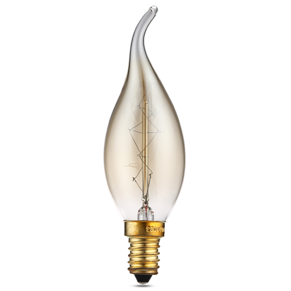 Lightinbox Incandescent Shape Lamp Decorative Tungsten Filament Light Bulb Vintage Light Bulb C35 280V 40W E14 Edison Bulb