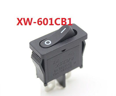 KCD1 XW-601CB1 black AC swicths 2 pin 2 position on-off electrical rocker switch for electronic equipment 16A 10A